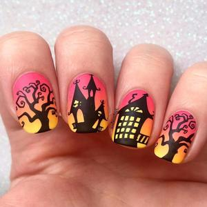 Image 2 - BORN PRETTY Halloween Nail Art Stamping Plate Pumpkin Christmas Pattern  Image Template Festival New Year Nails Stencil