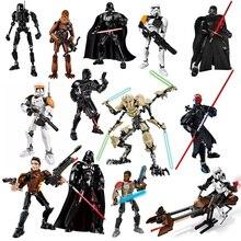 цена New leping compatible Star Wars Darth Maul Jango K-2SO Darth Vader creepy humanoid building block toy gift онлайн в 2017 году