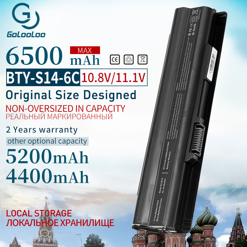 Golooloo 6Cells For MSI Laptop Battery FX720 GE60 GE620 GE620DX GE70 A6500 CR41 CR61 CR70 FR720 CX70 FX700 BTY-S14 BTY-S15