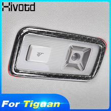 цена на Hivotd For Volkswagen VW Tiguan Mk2 2019 Auto Accessories Rear Reading Lights Cover Car Sticker Chrome Carbon Fiber Car-Styling