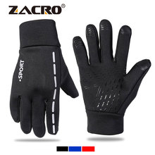 Zacro Unisex Cycling Gloves Sport Winter Anti-Slip Bike Glove Bicycle Windproof Touchscreen Gloves 3 Styles Glove for MTB cheap Polyester Microfiber Faux Fur Full Finger ZJC0220 Washable Gloves Mittens Breathable shockproof Anti Slip Screen touch