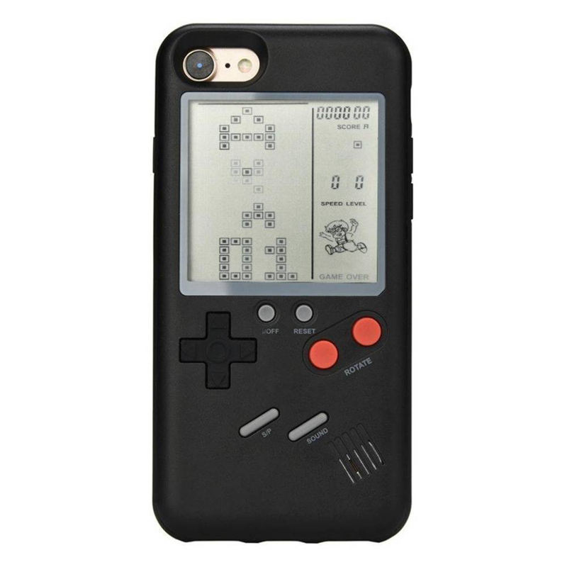 Top Deals Play Gameboy Tetris Phone Case Tpu Retro Real Game Console Cover For Iphone 6 6S Plus Black image