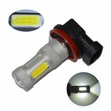 цена на 2Pcs super bright H11 COB 80W car led fog lamp bright auto headlight daytime running light DC12V 6000K led driving bulb white