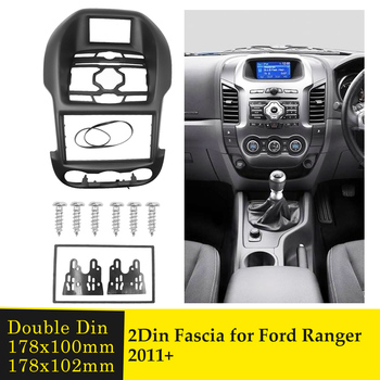 Double Din Car Fascia Auto Car Radio Frame For Ford Ranger 2011-2013 GPS Navigation DVD Multimedia Player Panel Bezel Dash Kits image