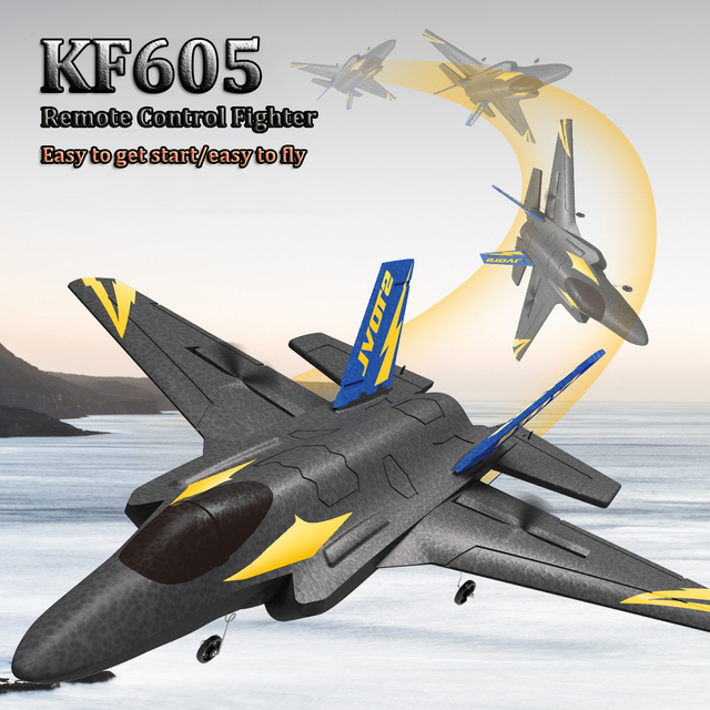 KF605 KFPLANE Fighter 2.4G 4CH 6-Axis Gyroscope Automatic Balance 360 Rollover EPP RC Glider Airplane RTF Electric RC Aircraft 6
