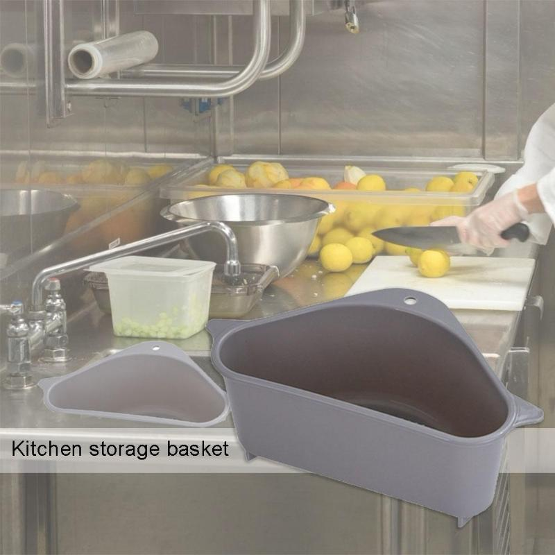 Multi-purpose  Sink Drain Storage Basket Suction Cup Kitchen Rack Drain Basket Kitchen Supplies Rag Food Fruit Storage Basket