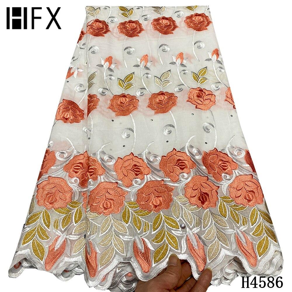 Высококачественная африканская кружевная ткань HFX, новейшая швейцарская вуаль, кружево в Швейцарии 2021 для нигеривечерние свадебного плать...