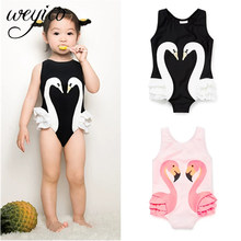 Kids One piece Swimwear Children Animal Print Bodysuit 2020 New Baby girls Swimming Wear Bathing suit Monokini swimsuit(China)