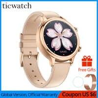 Oryginalny zegarek Ticwatch C2 Smartwatch Wear OS przez Google wbudowany gps tętno tracker do monitorowania aktywności fizycznej Google zapłać bezpłatny pasek na prezent