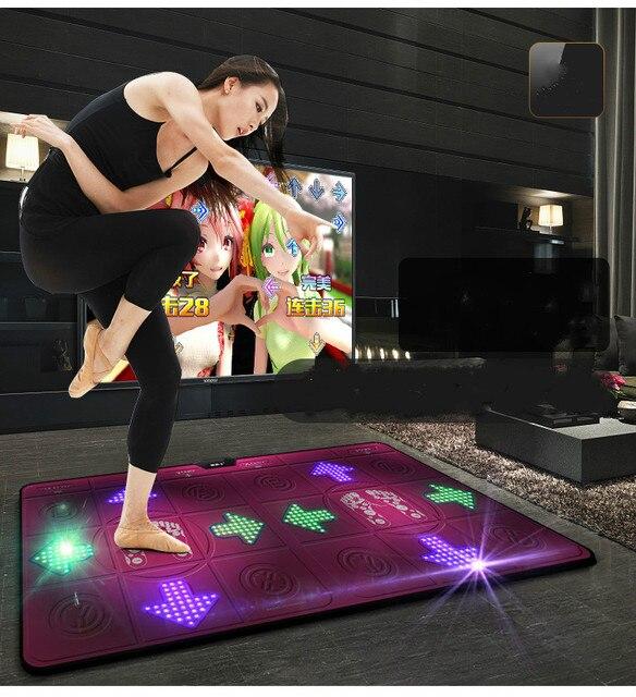 Tapis de danse lumineux HD Super clair tapis pour TV HDMI Guide de lumière Flash Double tapis de danse jeux de contrôle sans fil tapis de Yoga Fitness