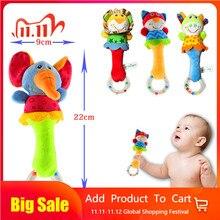 Nieuwe Ontwerp Pluche Baby Speelgoed Dier Hand Bells Baby Rammelaar Speelgoed Hoge Kwaliteit Newbron Gift Dier Stijl Wandelwagen Speelgoed