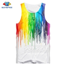 SONSPEE Summer Fashion Casual Unisex Tank Top Vest Colored o