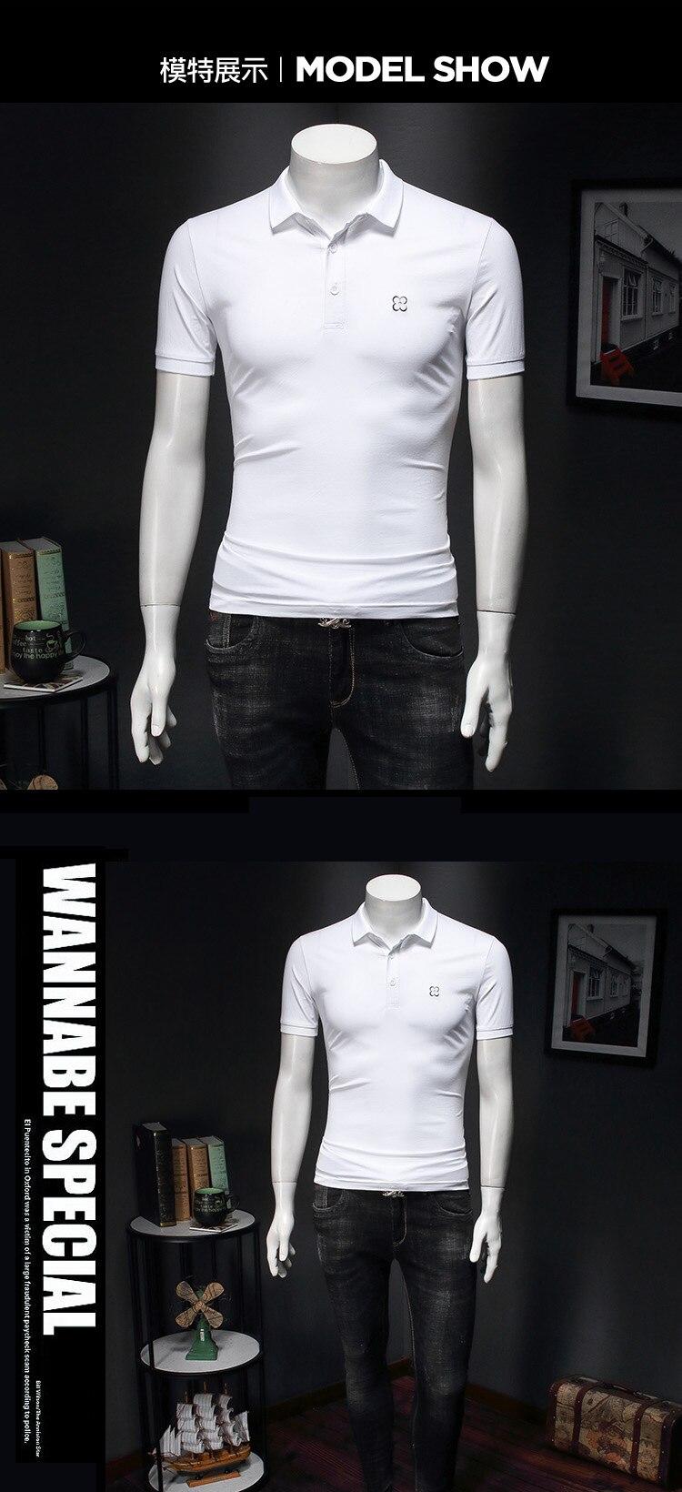 curta estilo polos para homens, casual, de
