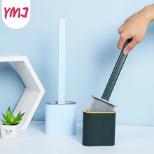 1Pc Wall Hanging Creative Flexible Glue Long Handle Toilet Cleaning Brush Set Toilet Household Toilet Brush Bathroom Accessories