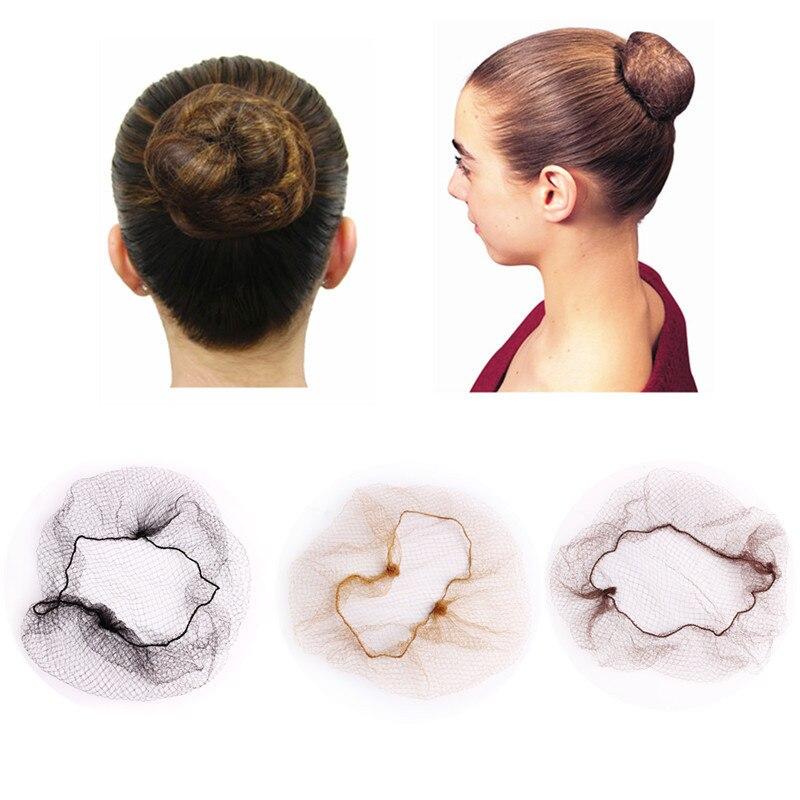 10/30 pçs descartável 5mm náilon hairnet redes de cabelo para perucas tecer invisível 20 polegada dança hairnet para bun ferramenta de estilo de cabelo