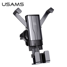 USAMS Alloy Gravity Invisible Car Phone Holder For iPhone12 11Pro X Mobile Phone GPS Stand Car Air Vent Bracket Car Phone Holder