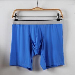 Image 4 - Shionf 2pcs Ultra Thin Mens underwear Ice Silk Cooling Boxer men Scrotum Support Anti Friction long leg 7XL Soft Panties