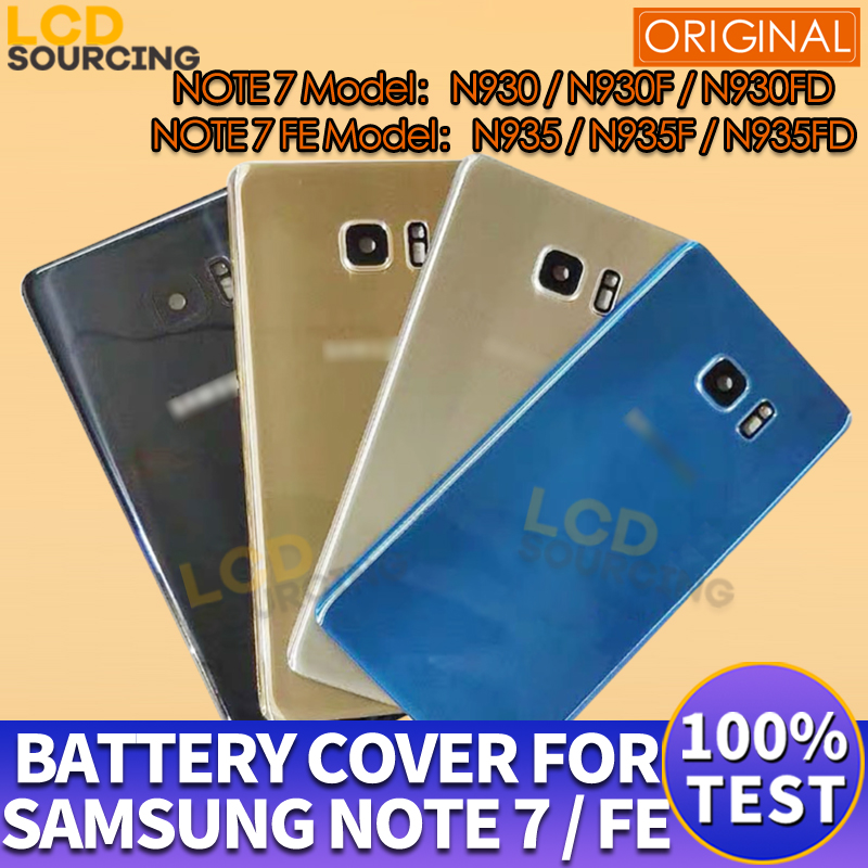 """5.7"""" Original For Samsung NOTE 7 Battery Cover N930F Back Glass Battery Housing For Samsung Note 7 FE Battery Cover Replace"""
