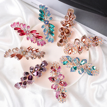 Holder Hair-Accessories Barrettes Styling-Tools Flower Crystal Fashion Ponytail Resin