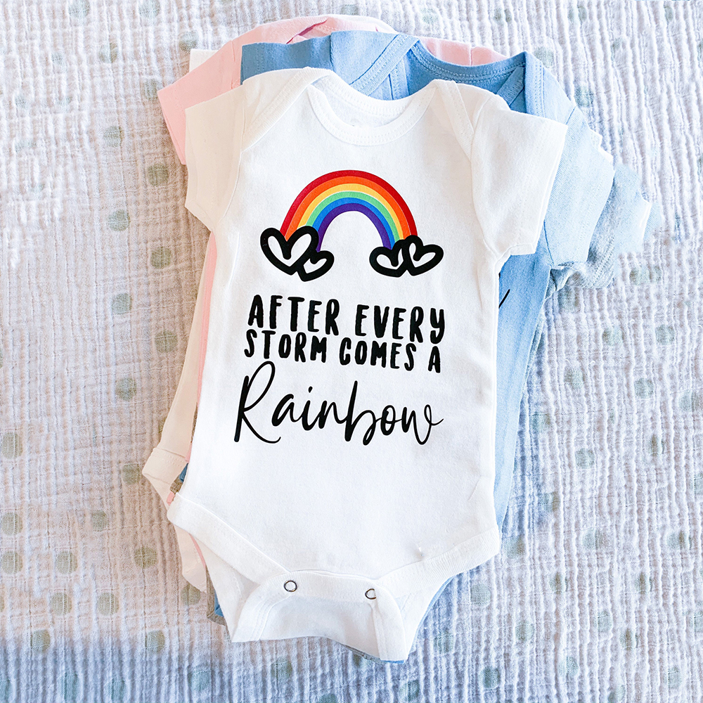 baby shower gift baby outfit new baby unisex baby outfit rainbow after the storm baby clothing Rainbow baby bodysuit infant bodysuit