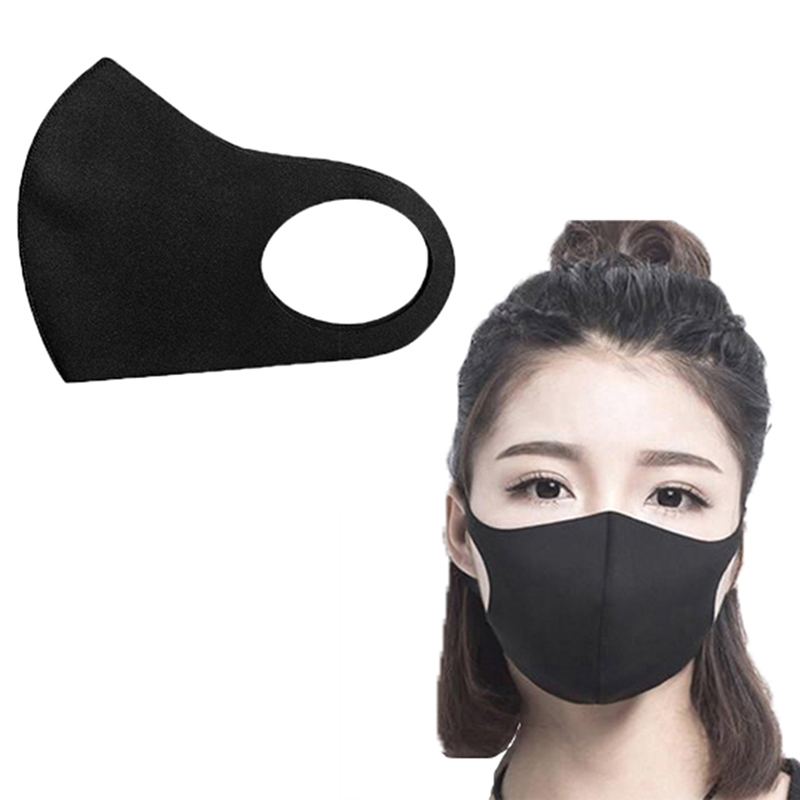 1Pc Mask Black Mouth Mask Anti Haze Dust Washable Reusable Dustproof Spring Summer Autumn Winter Mask