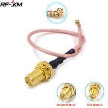 U. fl/ipx ipex ufl para RP-SMA sma fêmea antena macho cabo de trança wi-fi ufl ipex rg178 rf cabo