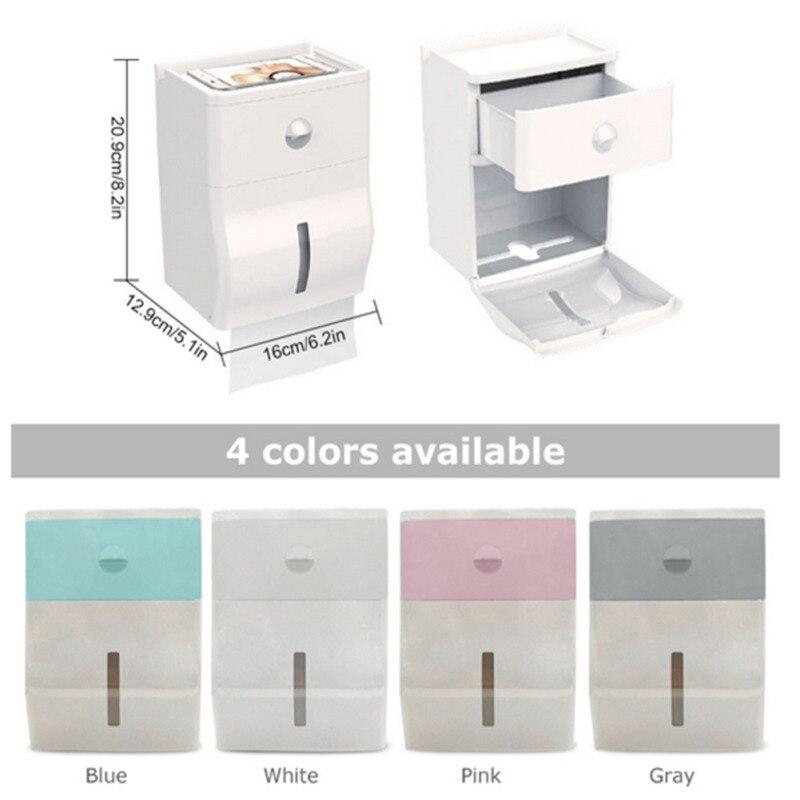 Punch-ฟรีผู้ถือกระดาษห้องน้ำชั้นวางกล่องกระดาษทิชชูห้องน้ำแบบพกพาห้องน้ำผู้ถือกระดาษ