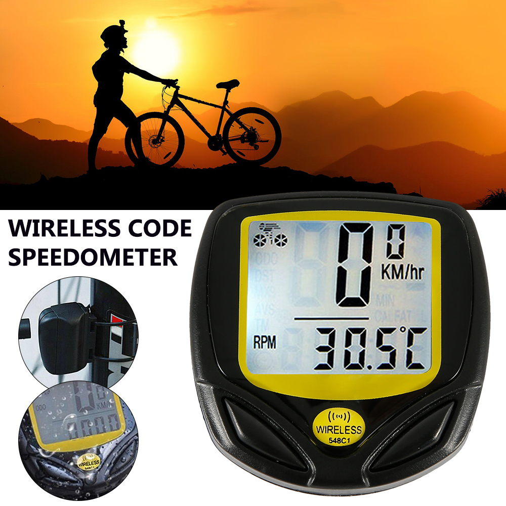 Waterproof <font><b>Bike</b></font> <font><b>Speed</b></font> <font><b>Meter</b></font> Wire Wireless Digital Ride Speedometer Odometer Cycling <font><b>Speed</b></font> Counter Code Table Bicycle Accessories image