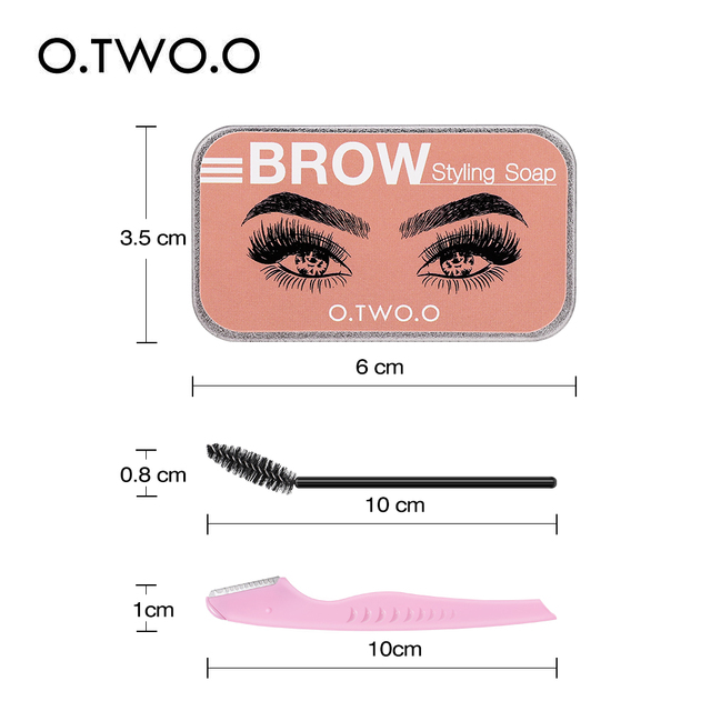 Eyebrow Soap Wax With Trimmer Fluffy   3