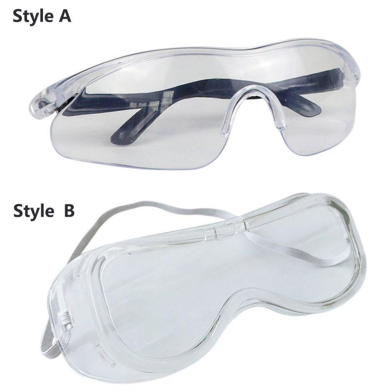 Unisex Protection Goggles Anti Virus Glasses High Definition Fog Blocking Anti-dust Anti-droplets Adjustable Eyewear