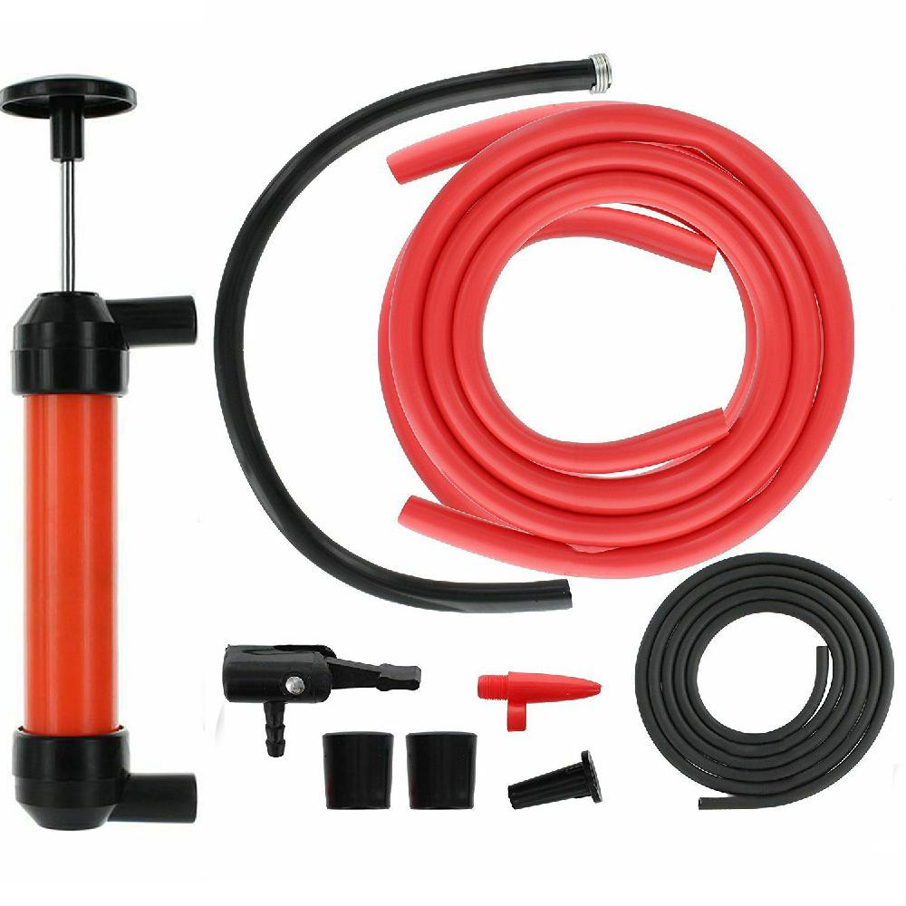 Multi-Purpose Siphon Transfer Pump Kit With Dipstick Tube Fluid Fuel Extractor Suction Tool For Oil Gasoline Water Liquids