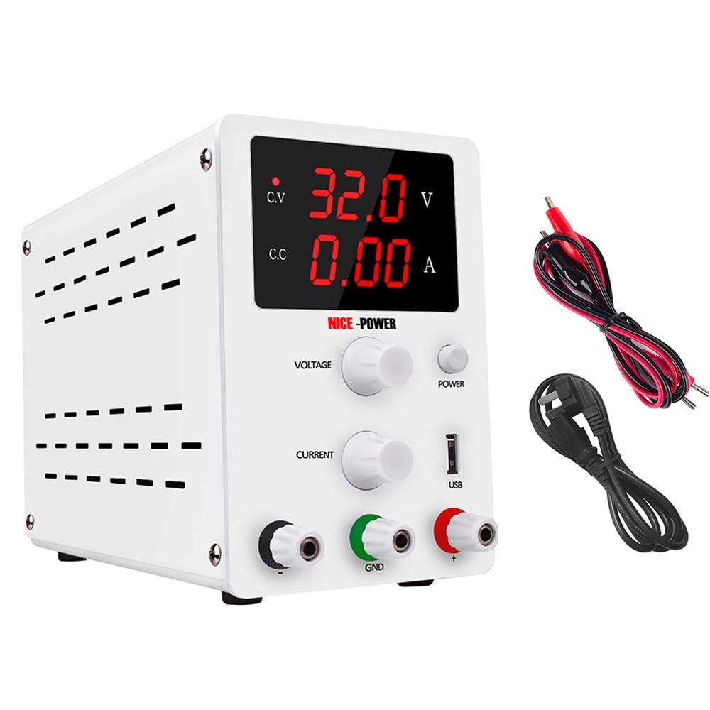 Nouveauté banc numérique commutation régulée DC USB alimentation 30V 10A réglable Source d'énergie de laboratoire 60V 5A régulateur