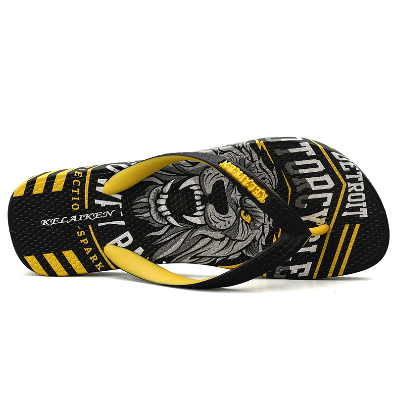 Hba97c909ddd24252bfbf76da424a80017 - VESONAL Summer Graffiti Print Slippers Men Shoes Flip Flops Slipers Male Hip Hop Street Beach Slipers Casual Flip-flops