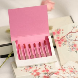 6pcs/Set Matte Lipstick Makeup Professional Kit Waterproof Red Lip Tint Long lasting Matte LipStick Velvet Woman Cosmetic Tool(China)
