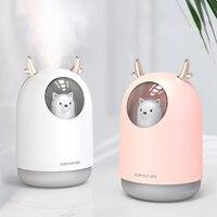 Eleole 300 ml usb umidificador de ar ultra sônico adorável pet fresco névoa aroma óleo essencial usd difusor névoa maker com lâmpada led|Umidificadores| |  -