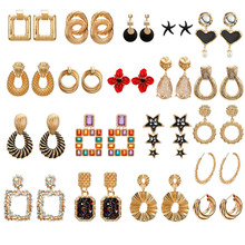 Fashion Earrings Women 2019 Metal Dangle For Charm Gold Color Big Female Jewelry