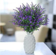 Nowe sztuczne kwiaty sztuczne kwiaty sztuczna plastikowa roślina kwiaty kwiaty lawendy sztuczna plastikowa roślina kwiaty Home Decoration tanie tanio CN (pochodzenie)