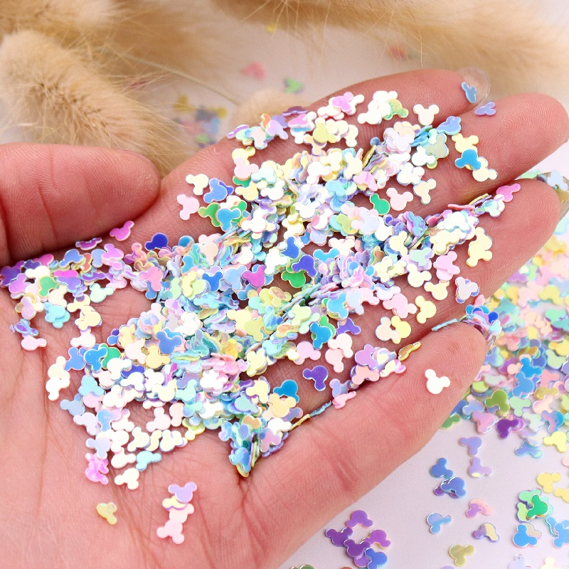 4mm Monkey Head Glitter Sequins Mix Macaroon Colors Nail Sequin Paillettes For DIY Manicure Nails Quicksand Crystal Soil Decor