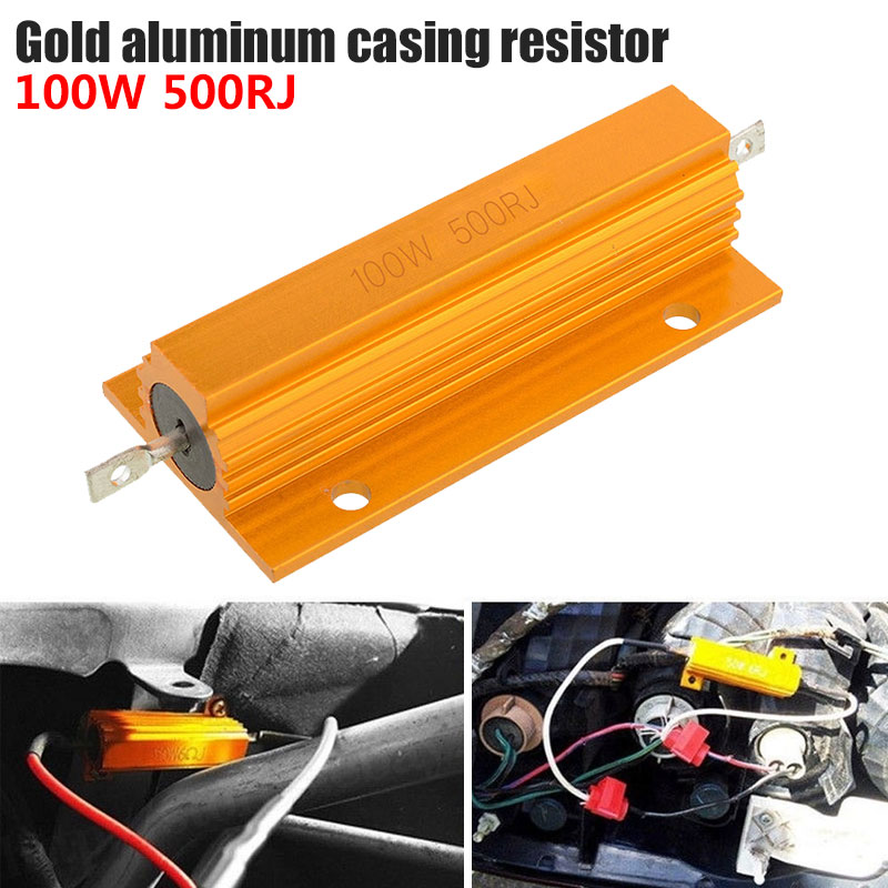 Aluminum Shell Resistance 100W Tool Part Braking Resistor Gadget Car Turn Signal Wire Winding Portable Accessories