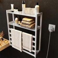 Comprar Toallero eléctrico V 102 montado en la pared con estante de almacenamiento calentador de toallas inteligente