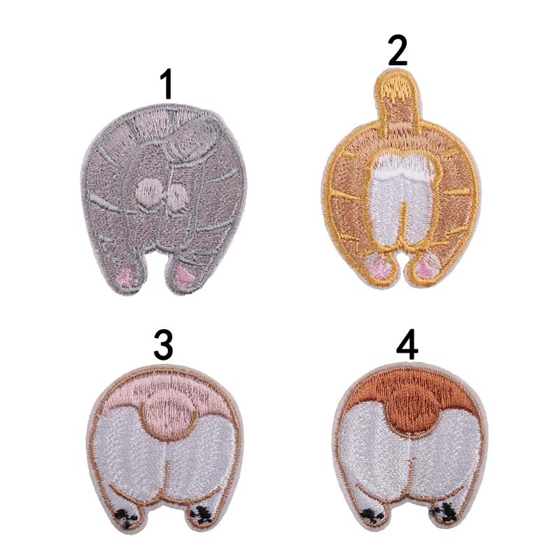 Embroidered Cloth Stickers Embroidery Chapter Animal Back For Clothes Decorative Shoes Mobile Phone Hat Bag Patch Stickers