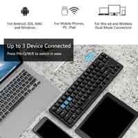 Ajazz-Teclado mecánico K680t con Bluetooth 68 teclas, diseño Anti-ghosting, K680t para Jazz, modos de retroiluminación diferentes, 2020
