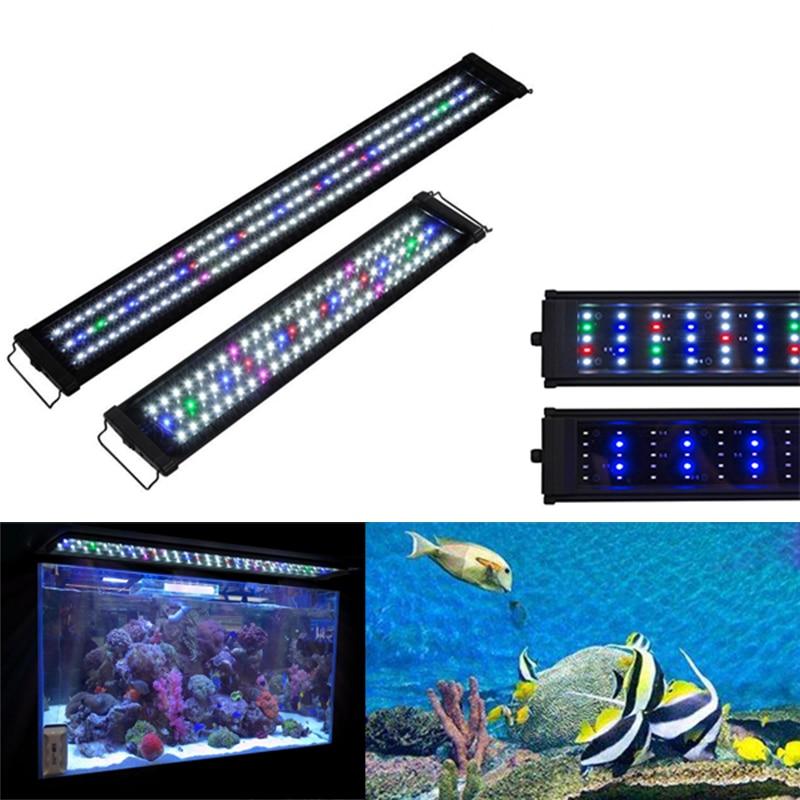 30cm-40cm LED Aquarium Light EU US Plug Multi-Color Full Spectrum Freshwater Fish Tank Plant Bar Lamp Marine Lighting