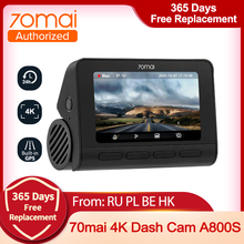 DVR Parking-Monitor Image Dash-Cam A800 70mai Car ADAS UHD Sony Imx415 Smart 4K Built-In