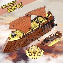 DHL 05090 Star Series Wars 6210 Парусная баржа Jabba Набор детских обучающих строительных блоков Кирпичи Детские игрушечные модели, подарки