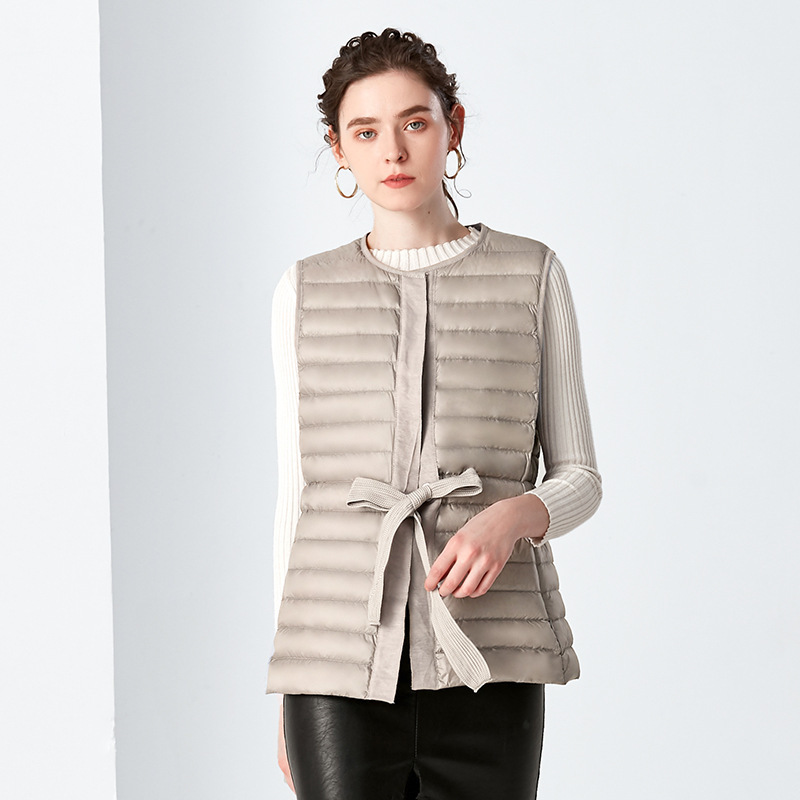 Female Coat Winter Fashion Women's Down Jacket 2020 Korean Warm Slim Fit Duck Down Sleeveless Women's Jacket Hiver LW741