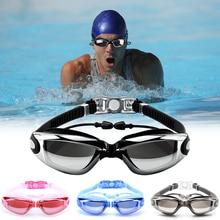 Swim Goggles Swimming Goggles Protective Goggles No Leaking Anti Fog UV Protection Swim Goggles with In-mold Earplugs