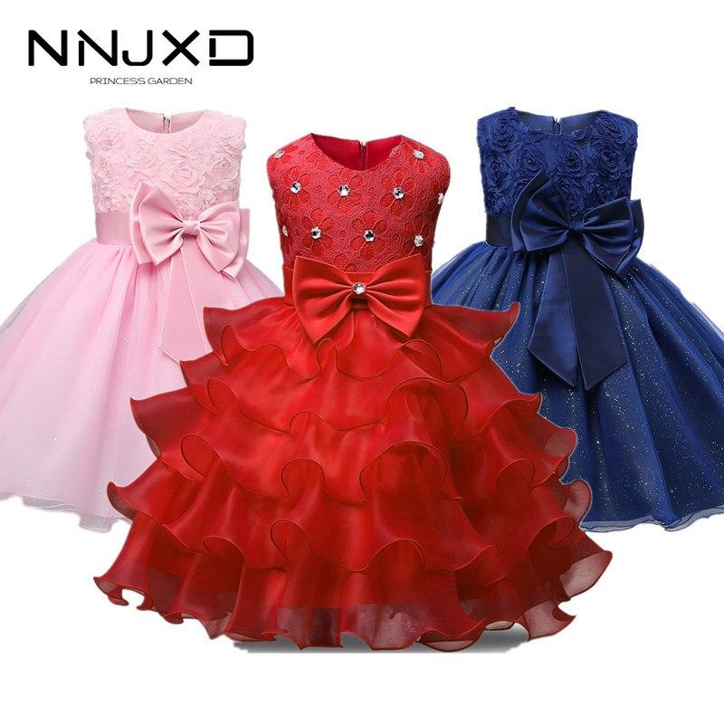 Girls Princess Flowers Ball Gown Princess Dress Kids Clothes Girls Cake Formal Dresses For Weddings Tutu Dress Party Evening 1