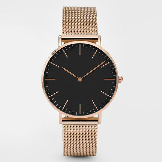 Rose gold black