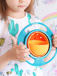 Feeding-Bowl Spill Training Toddler Baby Kids Infants 360-Rotate